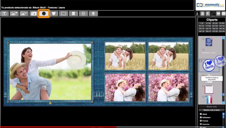 Cliparts en el software de iMoments