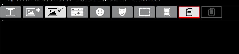 Icono para agregar o quitar páginas a tu álbum digital iMoments