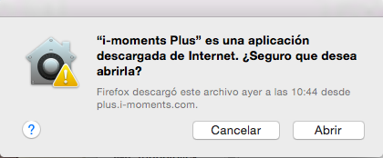 tutorial mensaje i-Moments es seguro