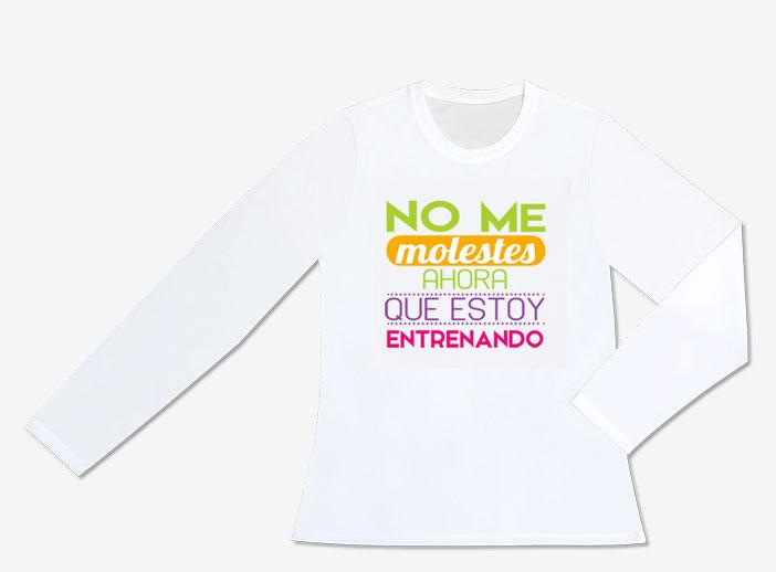 Camiseta técnica manga larga mujer para deporte