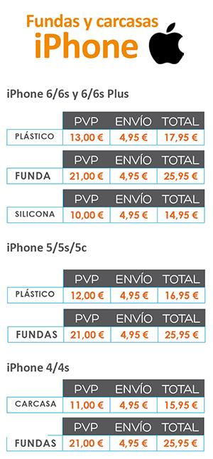 Precio de Carcasas Iphone