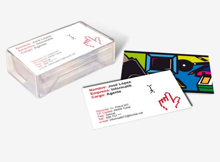 Diseña tus propias tarjetas de visita